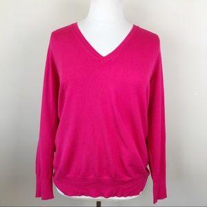 Lane Bryant Pink V-Neck Sweater Pullover 18/20